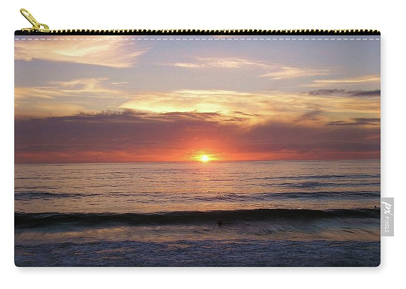 Strandhill Carry-all Pouch featuring the photograph Seascape by Louise Macarthur Art and Photography