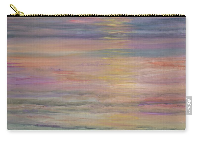 Sea Carry-all Pouch featuring the painting Seascape by Nadine Rippelmeyer