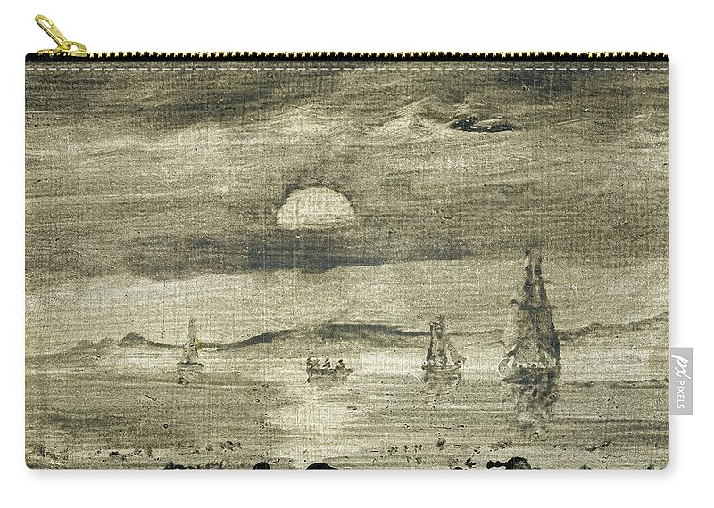 Peder Balke Carry-all Pouch featuring the painting Seascape by Peder Balke