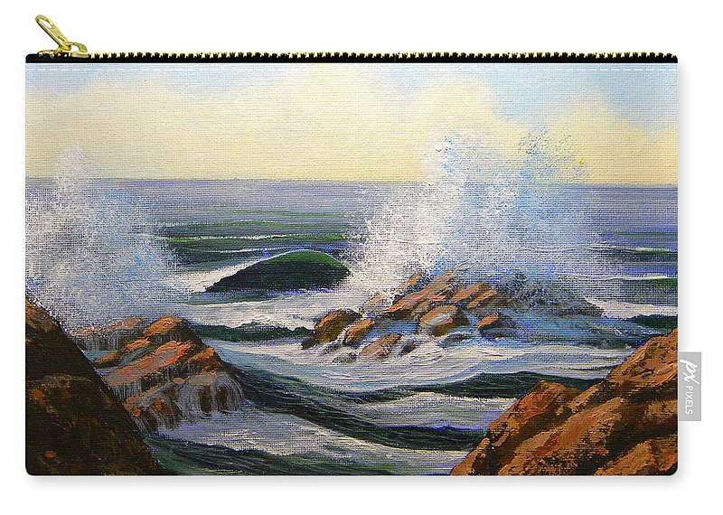 Seascape Carry-all Pouch featuring the painting Seascape Study 1 by Frank Wilson