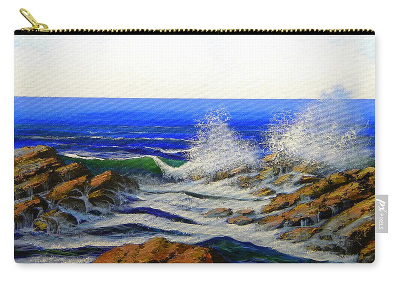 Seascape Carry-all Pouch featuring the painting Seascape Study 4 by Frank Wilson
