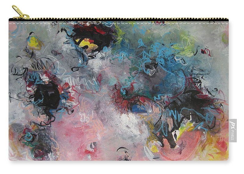 Blue Paintings Carry-all Pouch featuring the painting Seascape111 by Seon-Jeong Kim