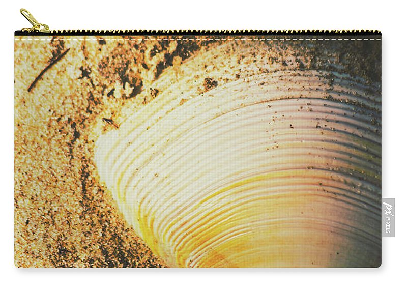 Nature Carry-all Pouch featuring the photograph Seashells And Beach Colours by Jorgo Photography - Wall Art Gallery