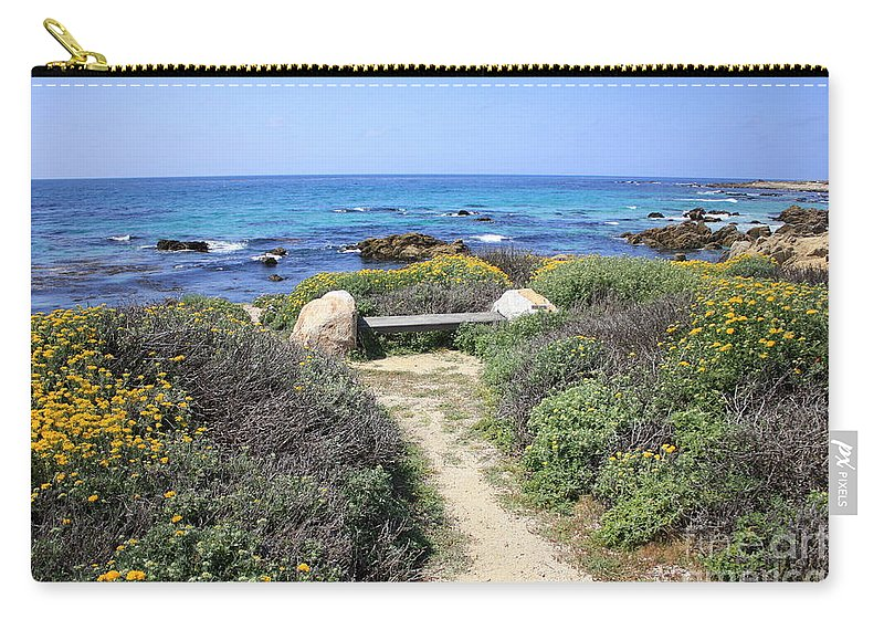 Landscape Carry-all Pouch featuring the photograph Seaside Bench by Carol Groenen