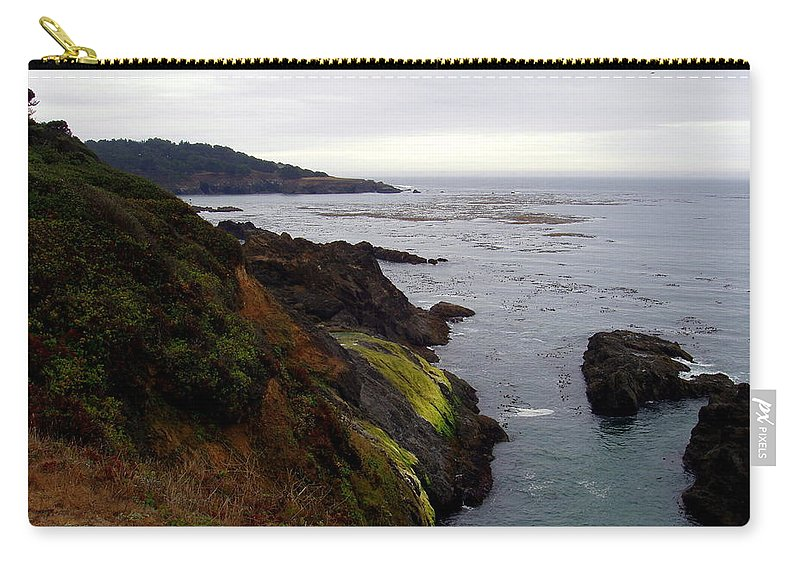 Seaside Carry-all Pouch featuring the photograph Seaside by Deborah Crew-Johnson