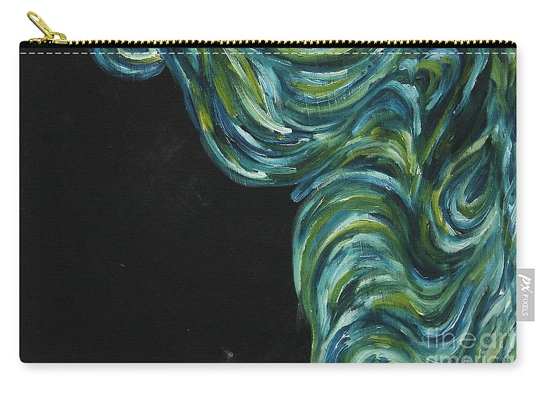 Art Carry-all Pouch featuring the painting Seaside Dreams 3 by Nour Refaat