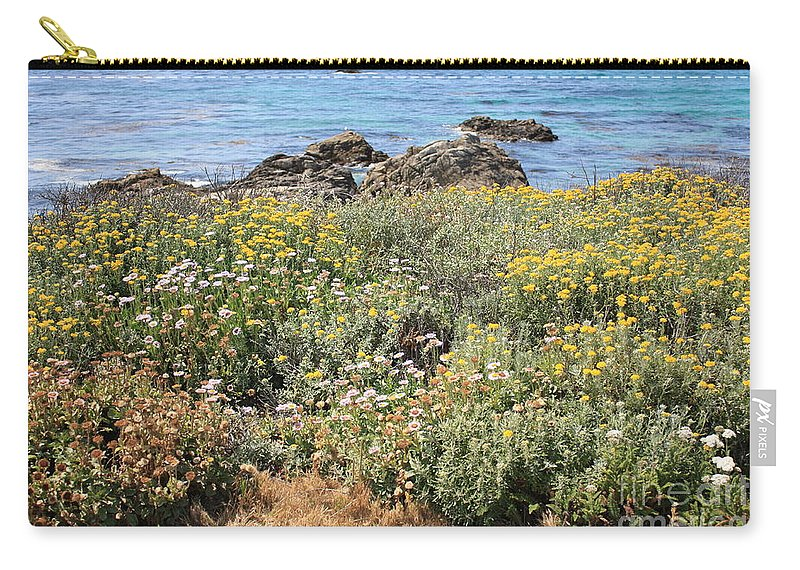 Seaside Flowers Carry-all Pouch featuring the photograph Seaside Flowers by Carol Groenen