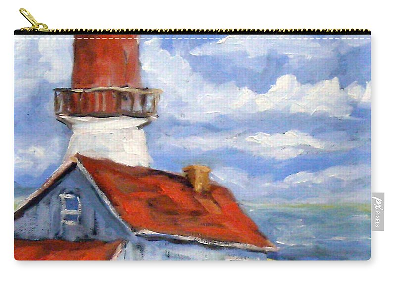 Art Carry-all Pouch featuring the painting Seaside Sentinal by Richard T Pranke