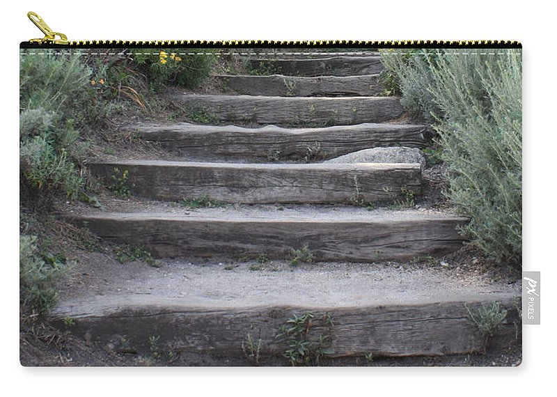 Seaside Steps Carry-all Pouch featuring the photograph Seaside Steps by Carol Groenen