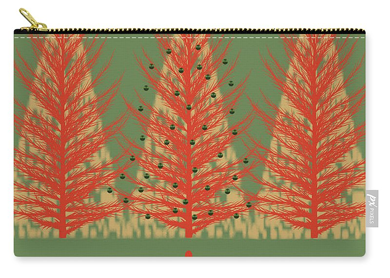 Holidays Carry-all Pouch featuring the mixed media Season' Greetings 1 by Robert Todd