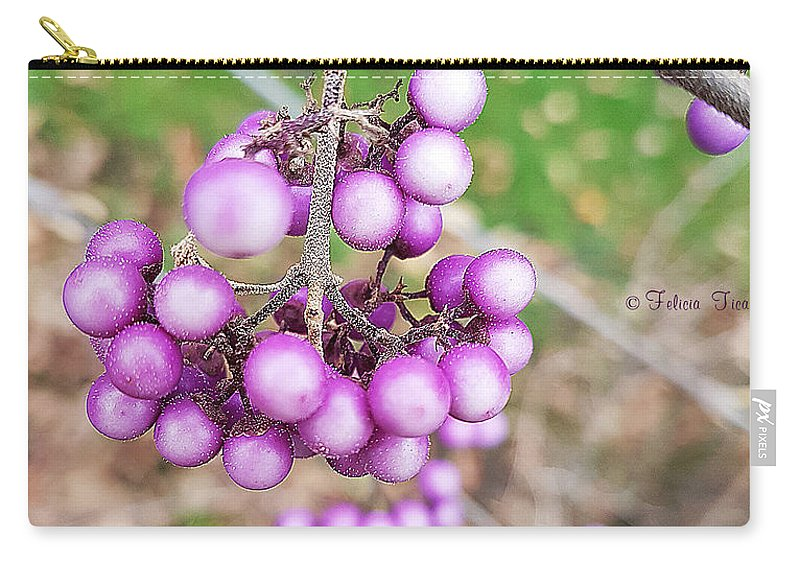 Callicarpa Giraldii Carry-all Pouch featuring the photograph Seasonal Charm by Felicia Tica