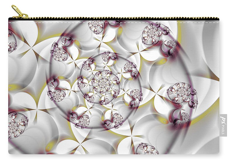 Art Carry-all Pouch featuring the digital art Seasonal Splendor by Candice Danielle Hughes