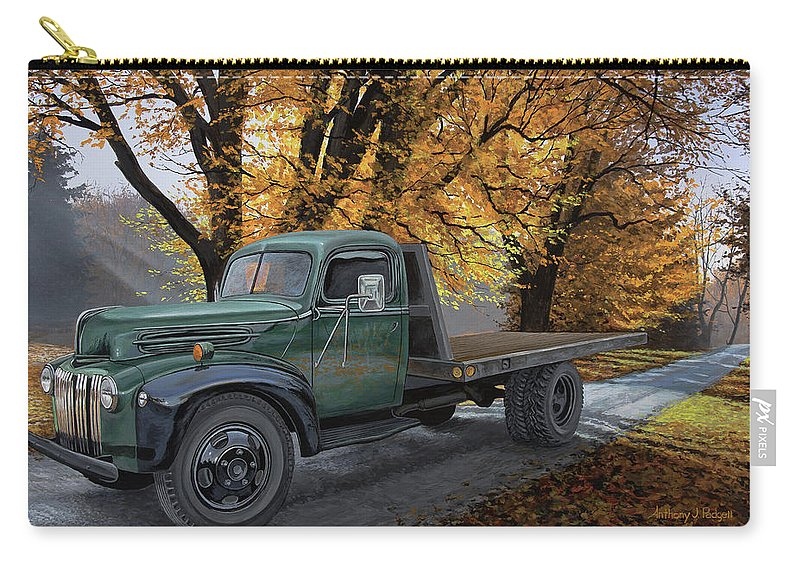Truck Carry-all Pouch featuring the painting Seasoned Hauler by Anthony J Padgett
