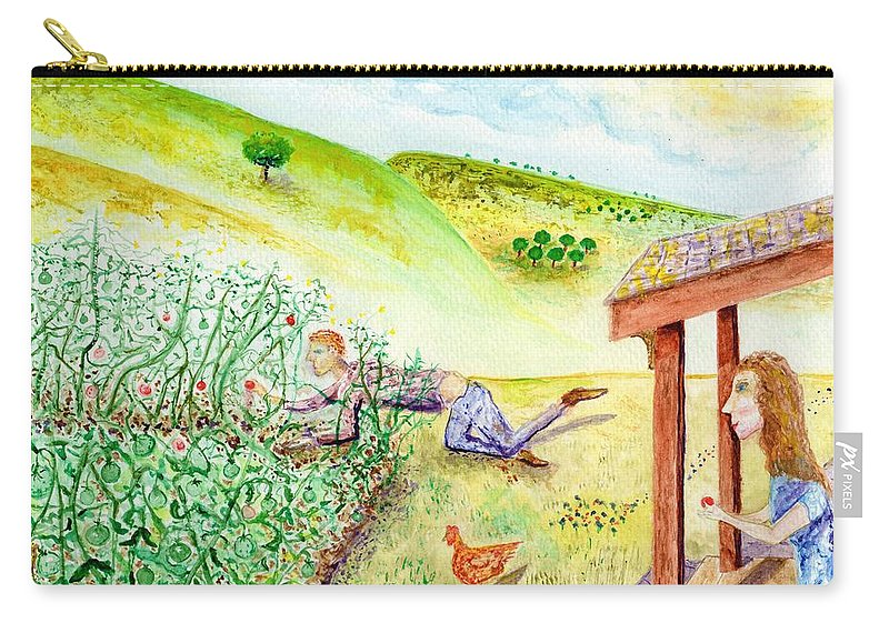 Jim Taylor Carry-all Pouch featuring the painting Seasons First Tomatoes by Jim Taylor