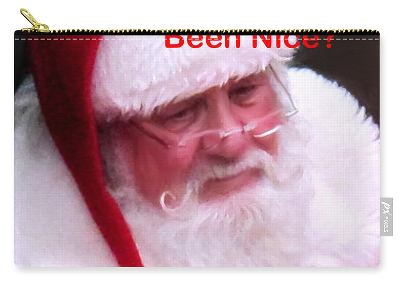 Santa Clause Carry-all Pouch featuring the photograph Seasons Greetings by Ian MacDonald