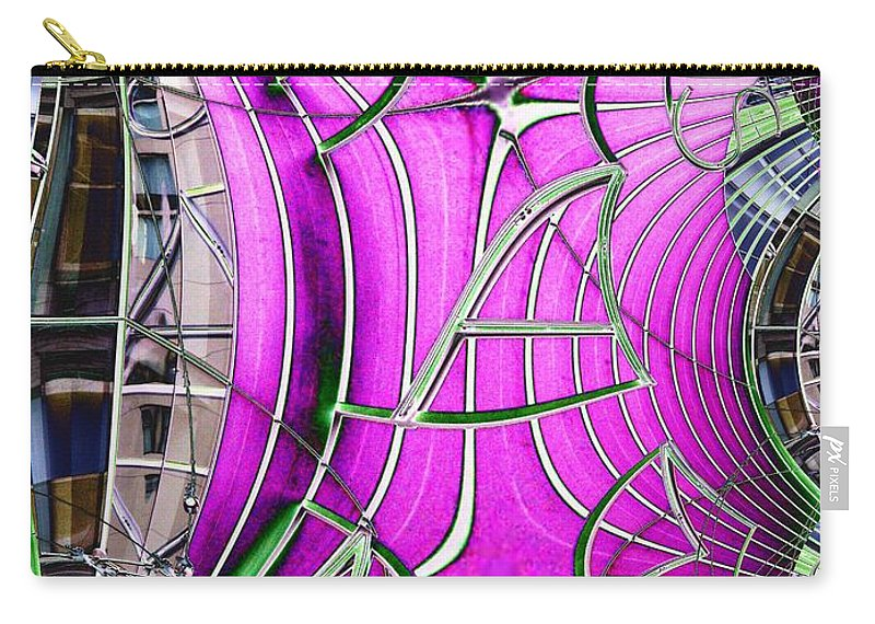 Seattle Carry-all Pouch featuring the digital art Seattle Art Museum by Tim Allen