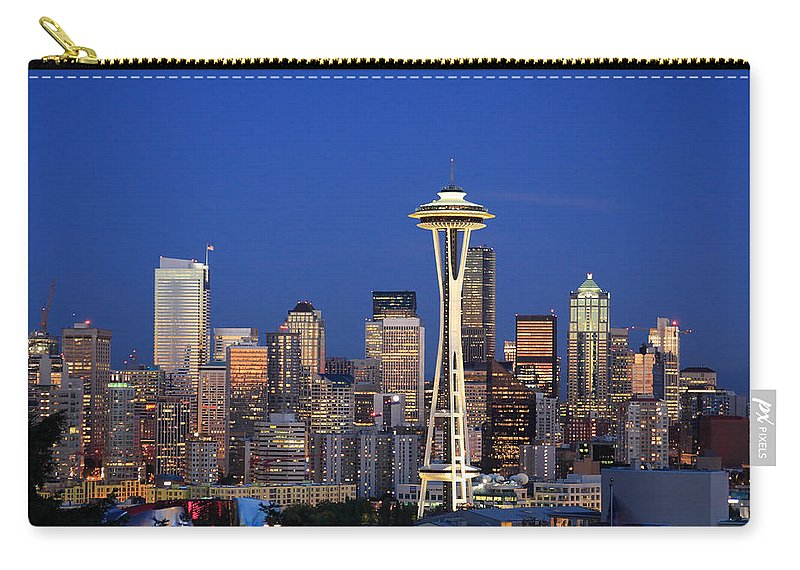 3scape Photos Carry-all Pouch featuring the photograph Seattle At Dusk by Adam Romanowicz
