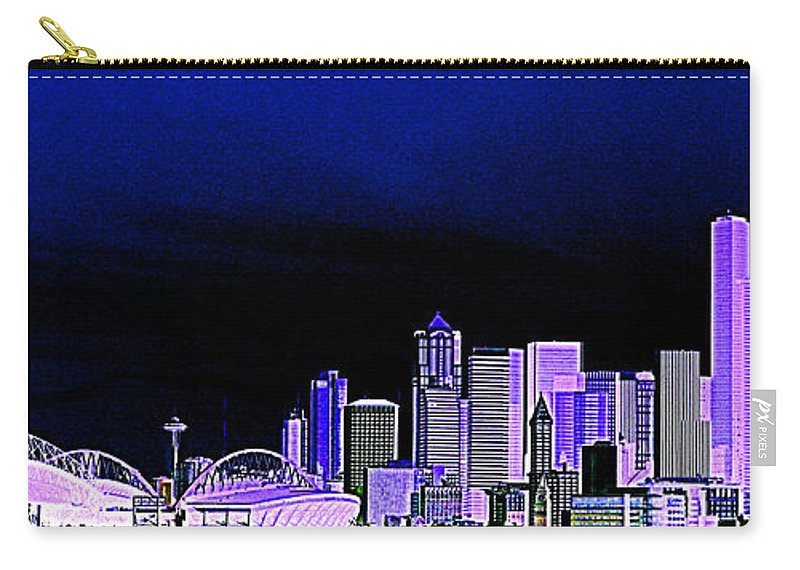 Seattle Carry-all Pouch featuring the photograph Seattle Blue 2 by Nick Gustafson