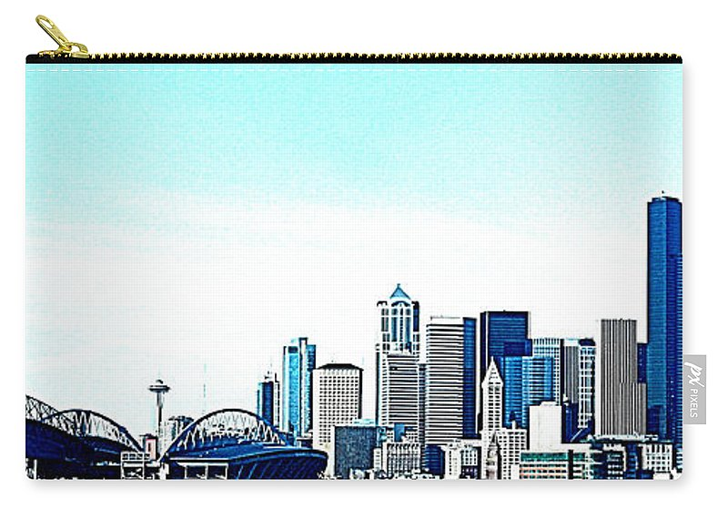Seattle Carry-all Pouch featuring the photograph Seattle Blue by Nick Gustafson