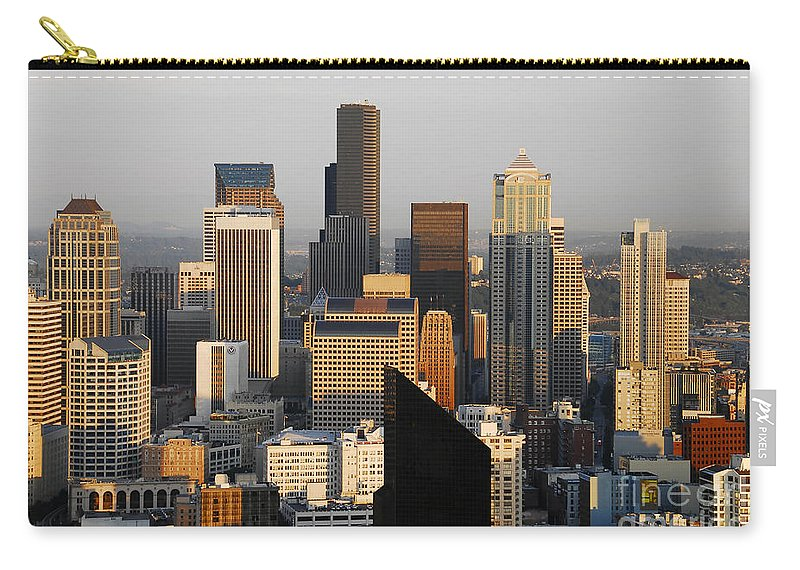 Seattle Washington Carry-all Pouch featuring the photograph Seattle by David Lee Thompson