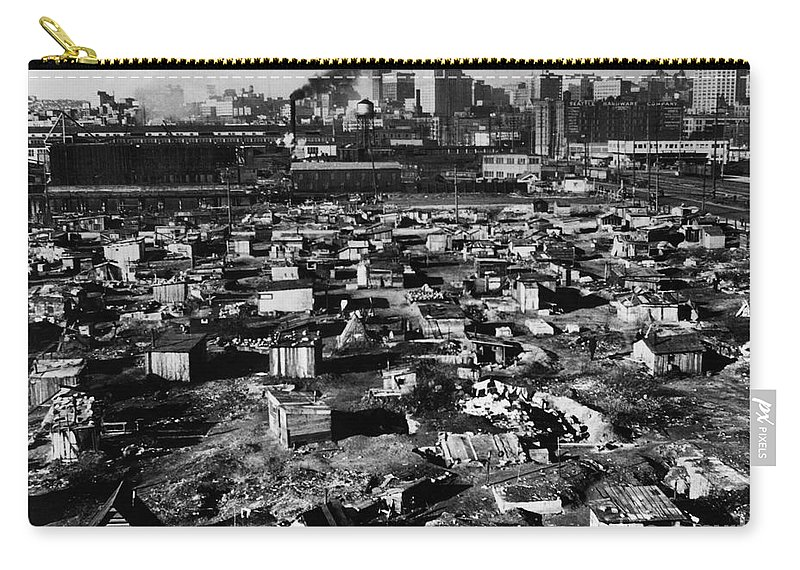 1933 Carry-all Pouch featuring the photograph Seattle: Hooverville, 1933 by Granger