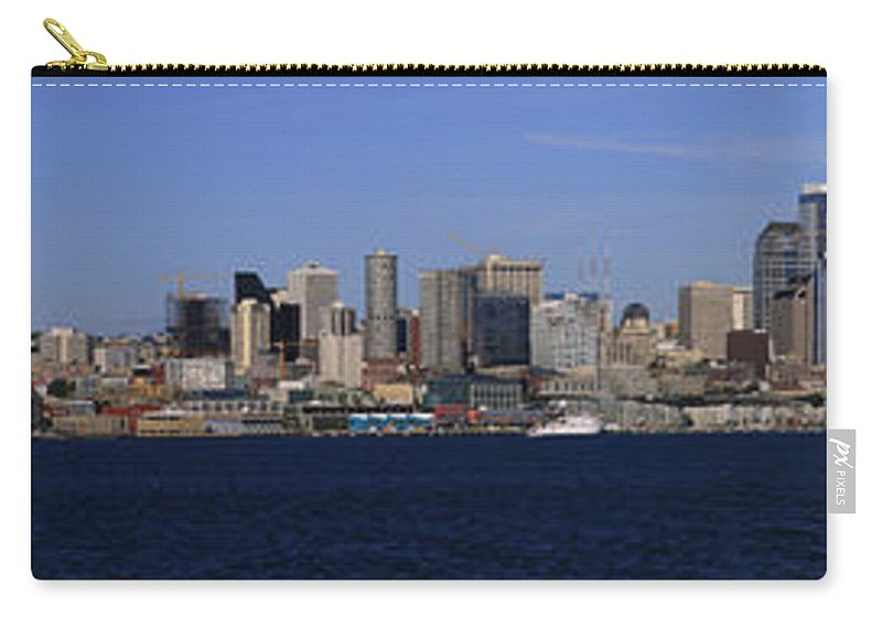3scape Carry-all Pouch featuring the photograph Seattle Panoramic by Adam Romanowicz
