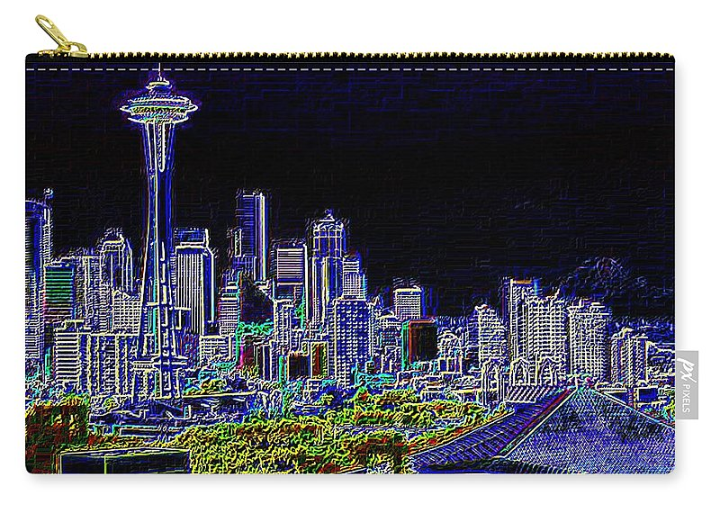 Seattle Carry-all Pouch featuring the photograph Seattle Quintessence by Tim Allen