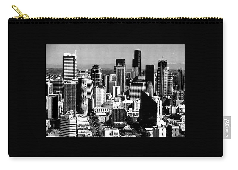 Carry-all Pouch featuring the photograph Seattle Skyline by Jeremy Owens