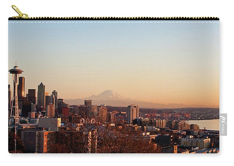 Seattle Carry-all Pouch featuring the photograph Seattle Skyline by Mike Reid