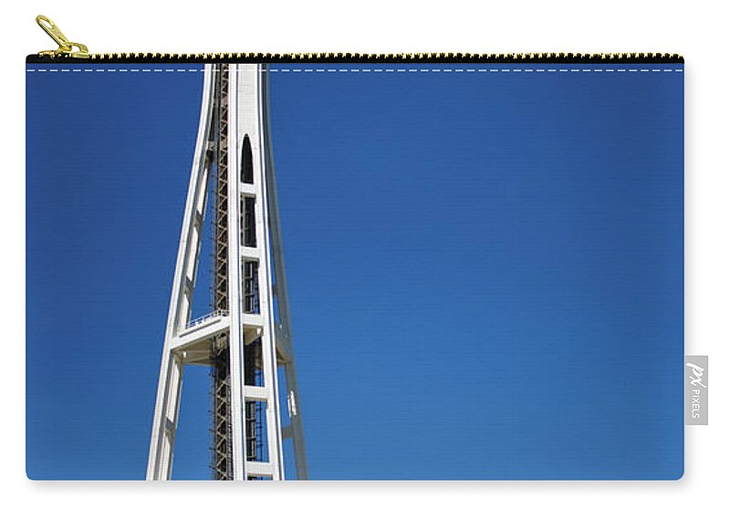 3scape Carry-all Pouch featuring the photograph Seattle Space Needle by Adam Romanowicz