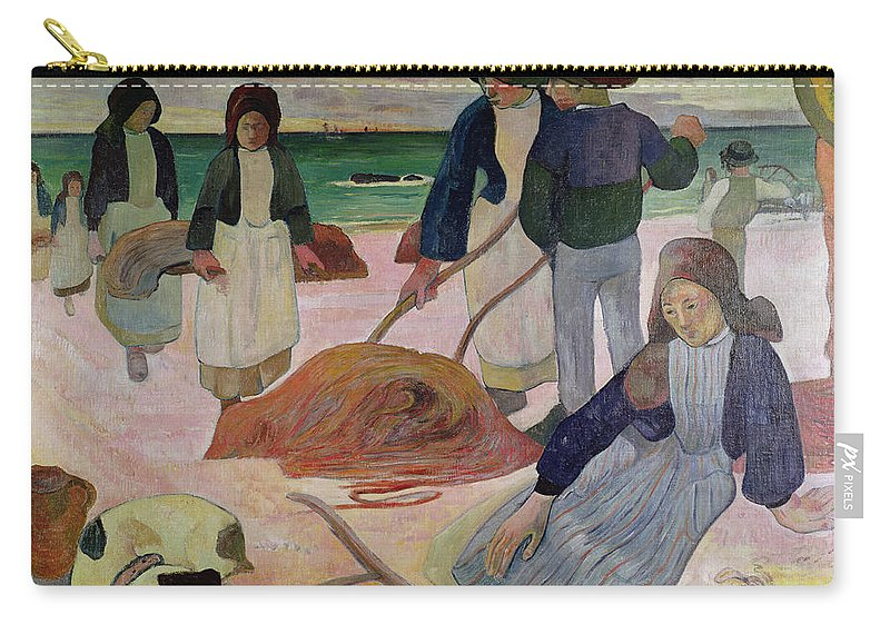 Seaweed Gatherers Carry-all Pouch featuring the painting Seaweed Gatherers by Paul Gauguin