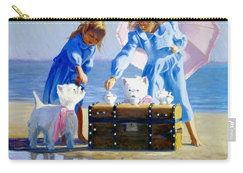 West Highland Terrier Carry-all Pouch featuring the painting Seaweed Tea by Candace Lovely