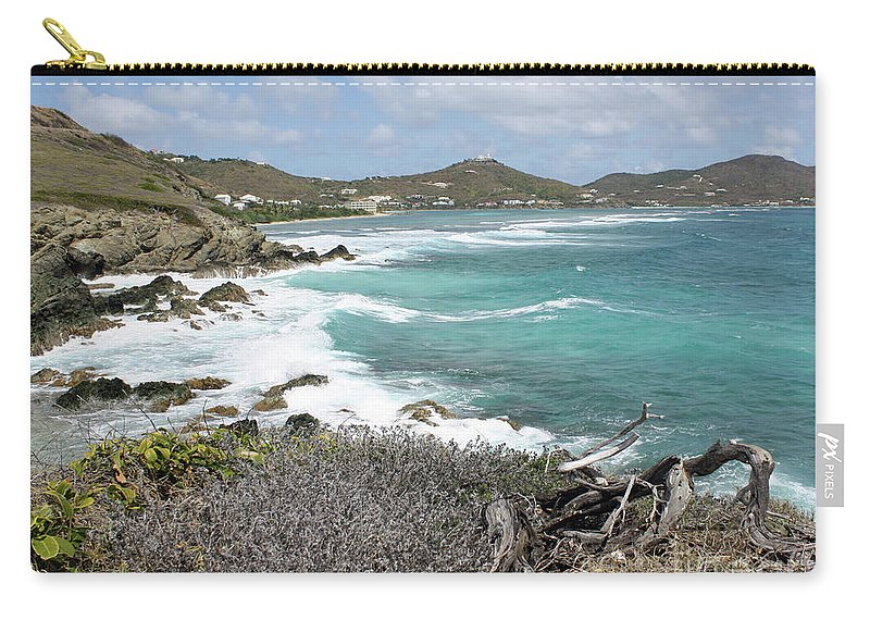Caribbean Sea Carry-all Pouch featuring the photograph Secluded Beach by Kelly Holm
