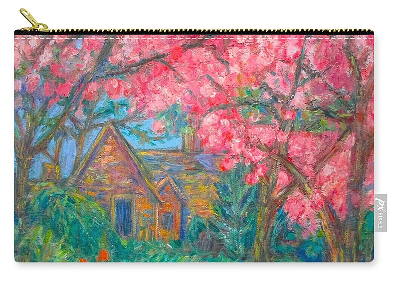 Homes Carry-all Pouch featuring the painting Secluded Home by Kendall Kessler