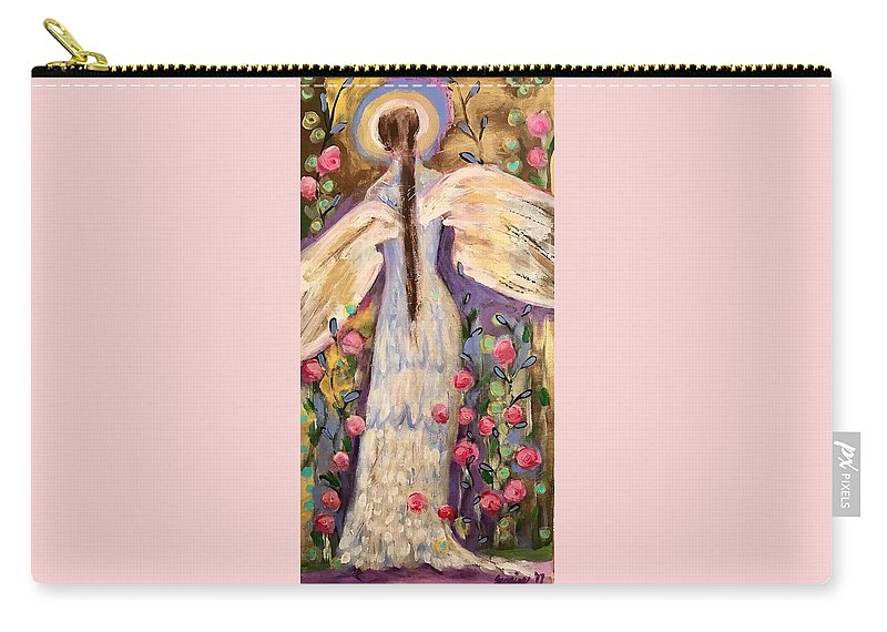 Angel Carry-all Pouch featuring the painting Second Chance by Suzaine Smith