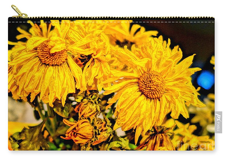 Hdr Carry-all Pouch featuring the photograph Flowers - Second Life by Kip Krause
