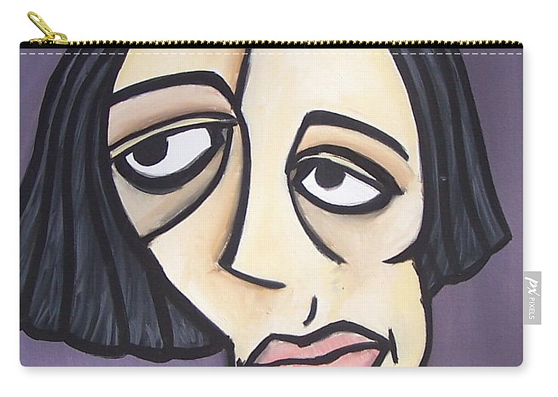 Nude Carry-all Pouch featuring the painting Second Vanessa by Thomas Valentine