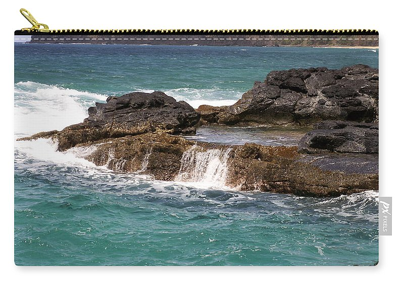 Beach Carry-all Pouch featuring the photograph Secret Beach by Amy Fose