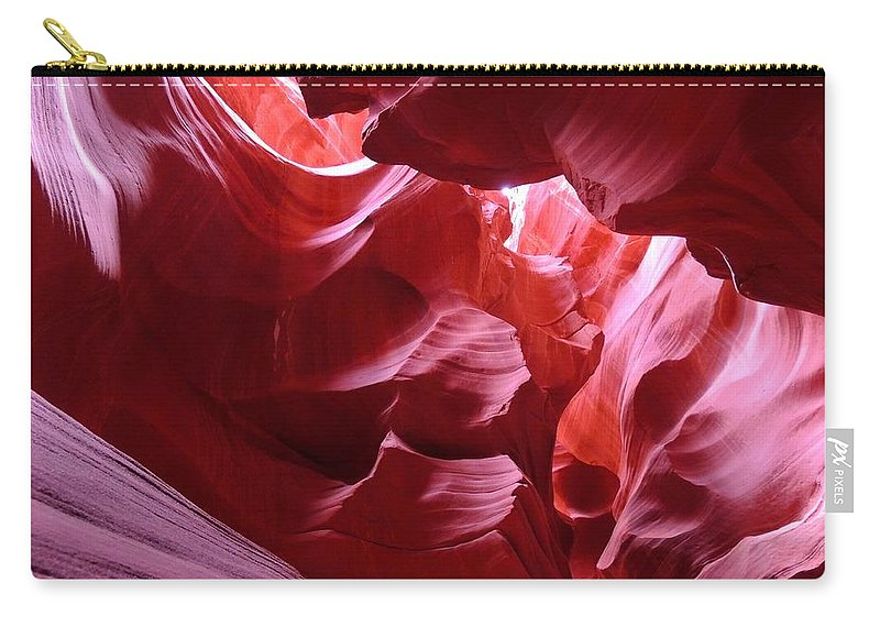 Slot Canyon Carry-all Pouch featuring the photograph Secret Canyon 2 by Sarah Avignone