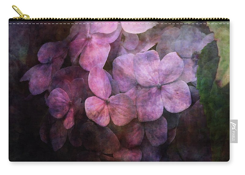 Impressionist Carry-all Pouch featuring the photograph Secret Hydrangea 1538 Idp_2 by Steven Ward