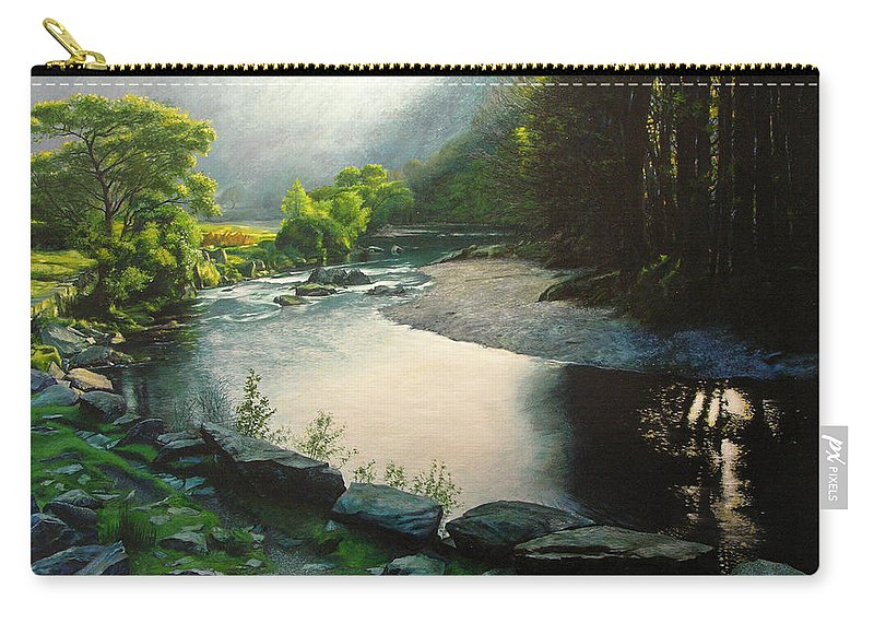 Valley Carry-all Pouch featuring the painting Secret Valley by Harry Robertson