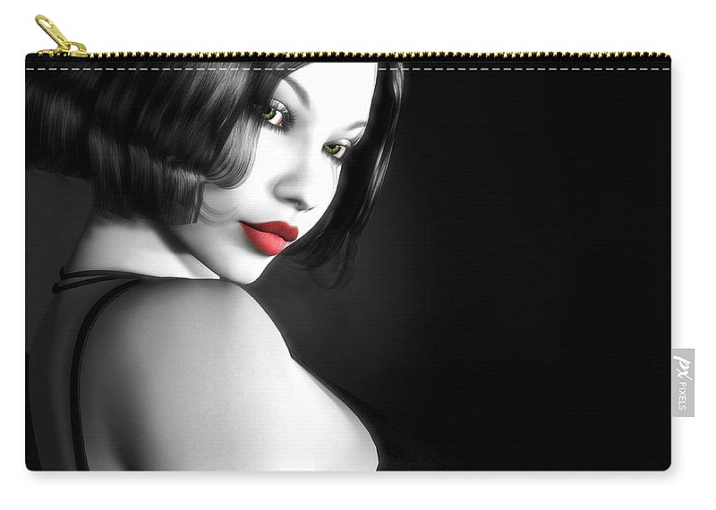 Sexy Carry-all Pouch featuring the digital art Secretive Desire by Alexander Butler
