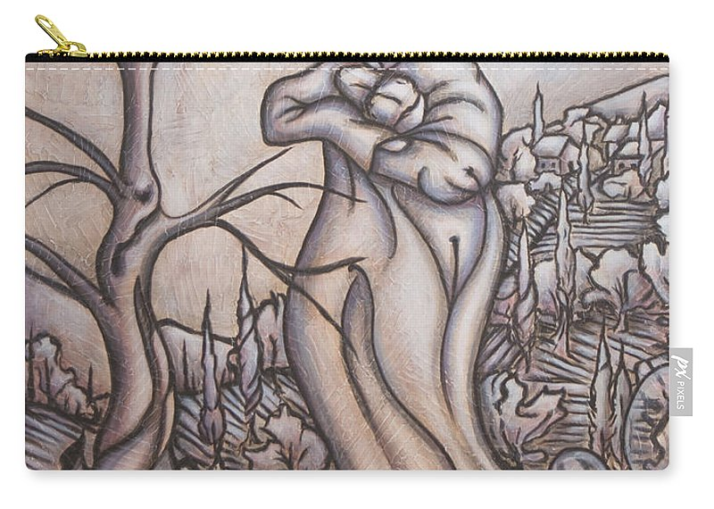 Dream. Moon Carry-all Pouch featuring the painting Secrets And Dreams by Judy Henninger