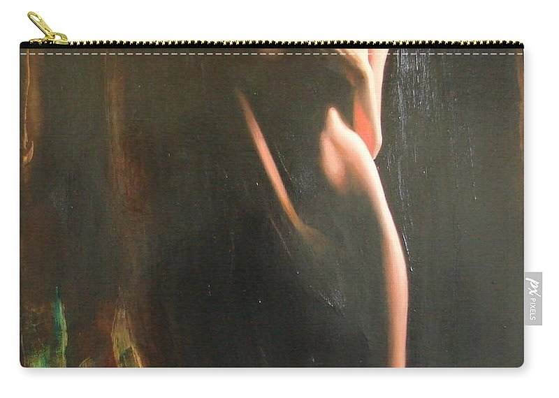 Art Carry-all Pouch featuring the painting Secrets by Sergey Ignatenko