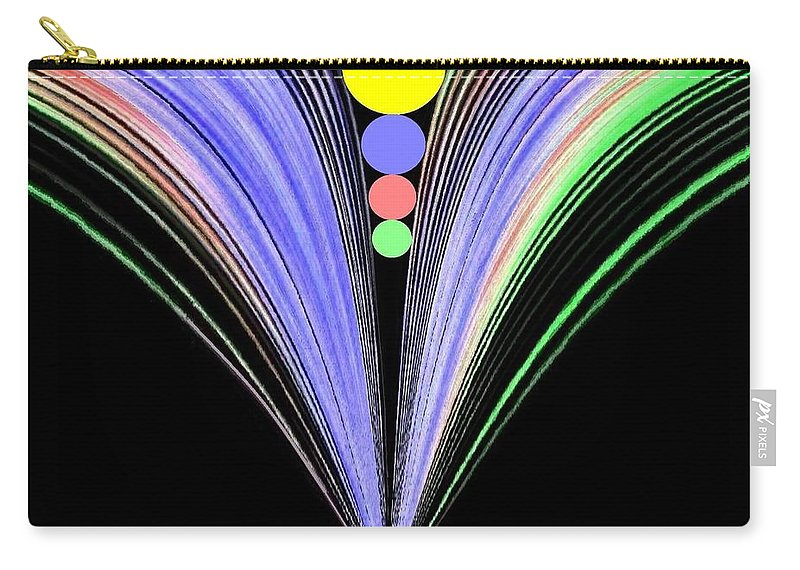 Abstract Carry-all Pouch featuring the digital art Security by Will Borden