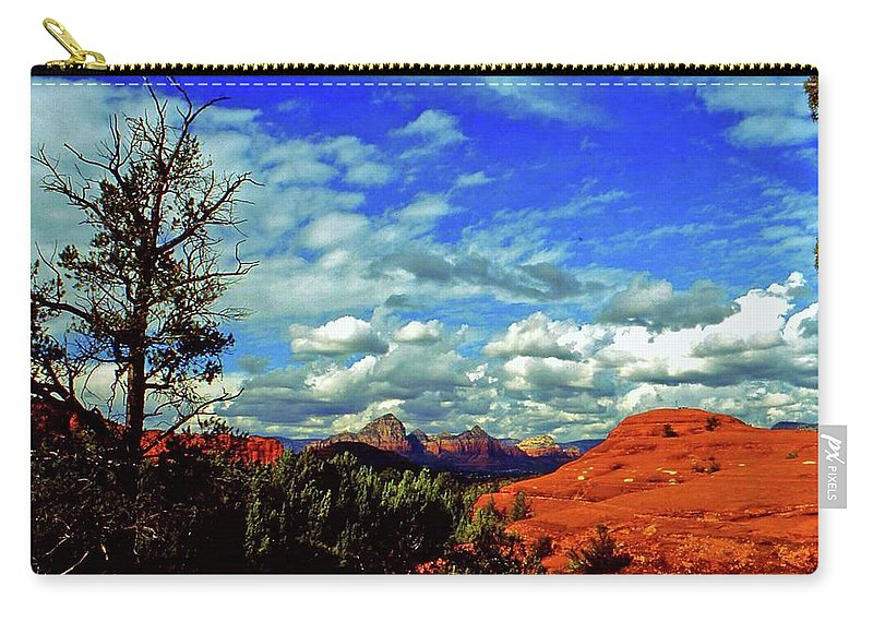 Arizona Carry-all Pouch featuring the photograph Sedona Capitol Butte by Gary Wonning