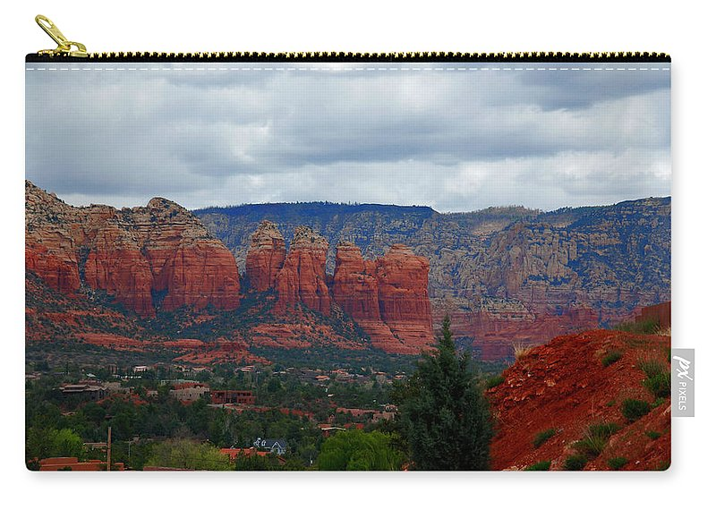 Photography Carry-all Pouch featuring the photograph Sedona Mountains by Susanne Van Hulst