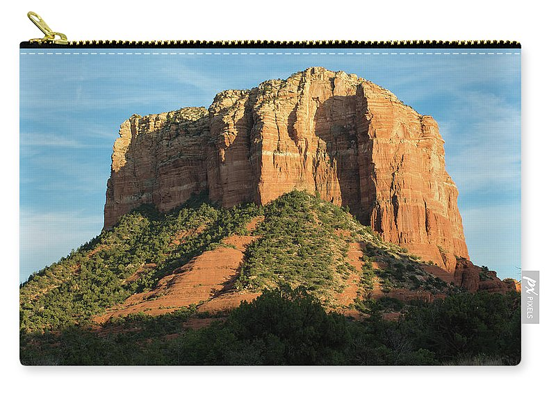 Sedona Carry-all Pouch featuring the photograph Sedona Red Rocks by Charles Scrofano Jr