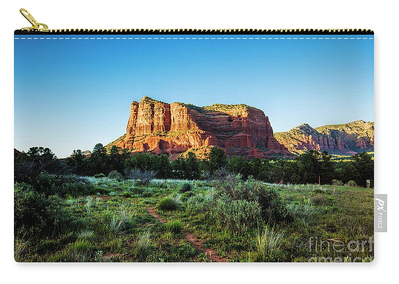 Glorious Sunset In Sedona Carry-all Pouch featuring the photograph Sedona Sunset 2 by Felix Lai