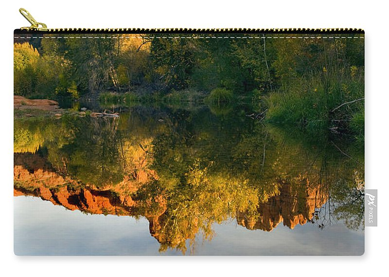 Reflection Carry-all Pouch featuring the photograph Sedona Sunset by Mike Dawson